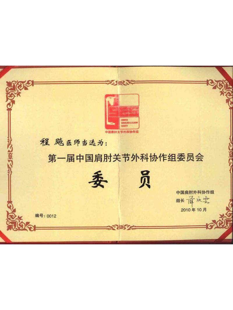 中国肩肘关节外科协作组委员会委员