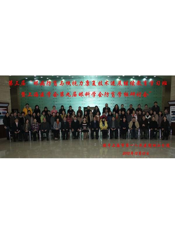 上海医学会第九届眼科学会防盲学组研讨会特邀教授
