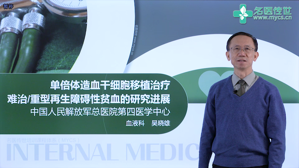 吴晓雄:单倍体造血干细胞移植治疗难治或重型再生障碍性贫血的研究进展(第1P-总2P)